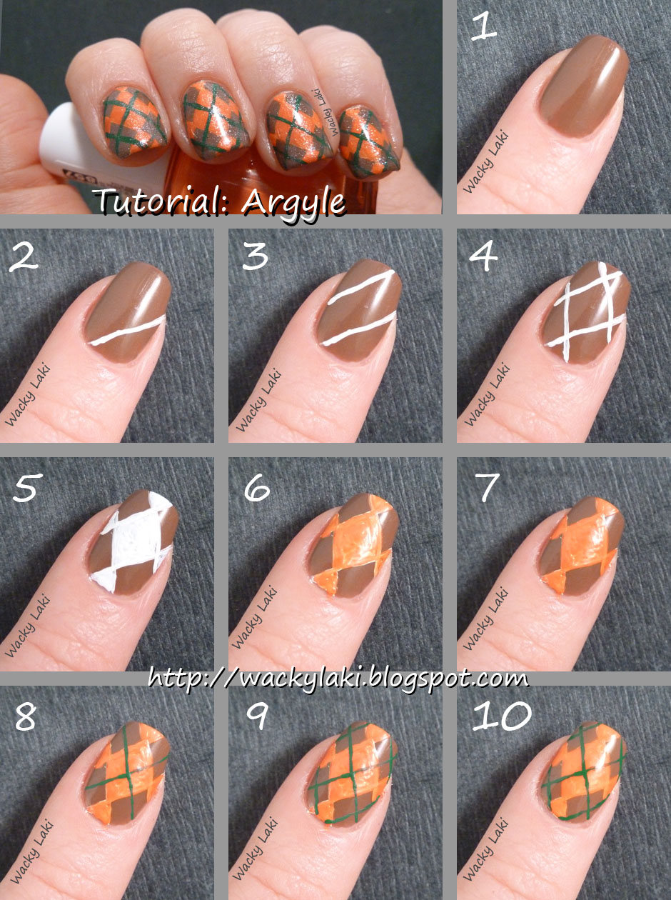 Argyle Nail Art Tutorials Pictures Photos And Images For Thanksgiving Tutorial