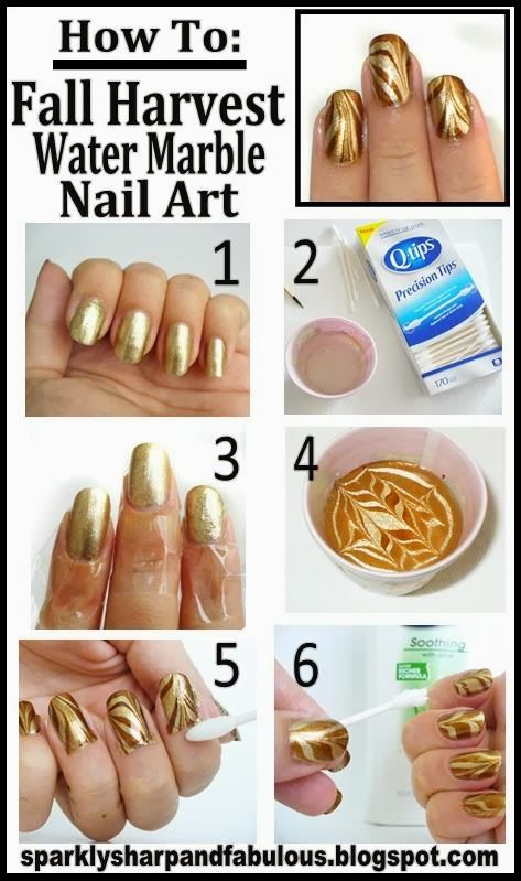 How To Do Water Spotted Nails