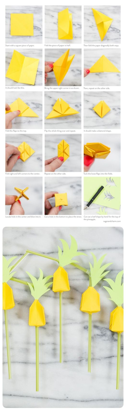 Origami Pineapple Easy Origami Tutorial Lets Make It