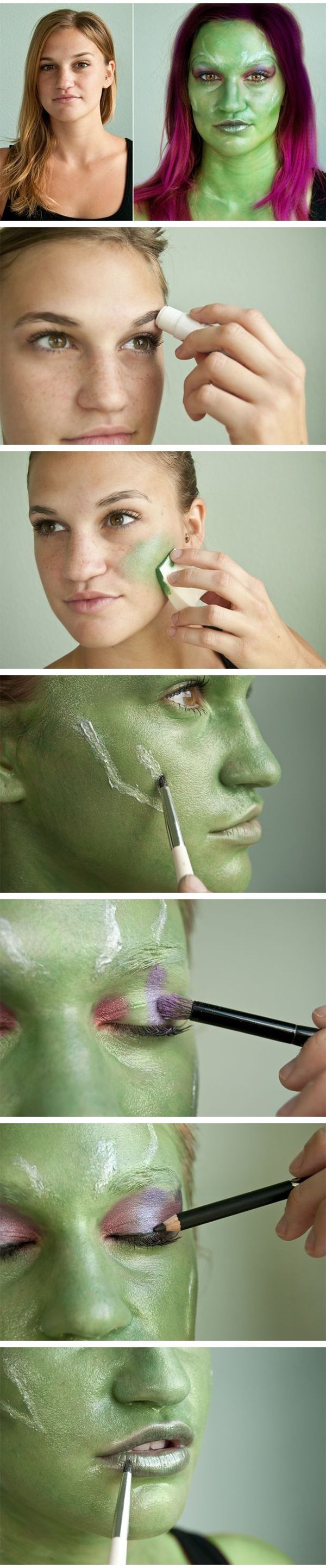 Glamora Guardians Of The Galaxy Makeup Tutorial Pictures