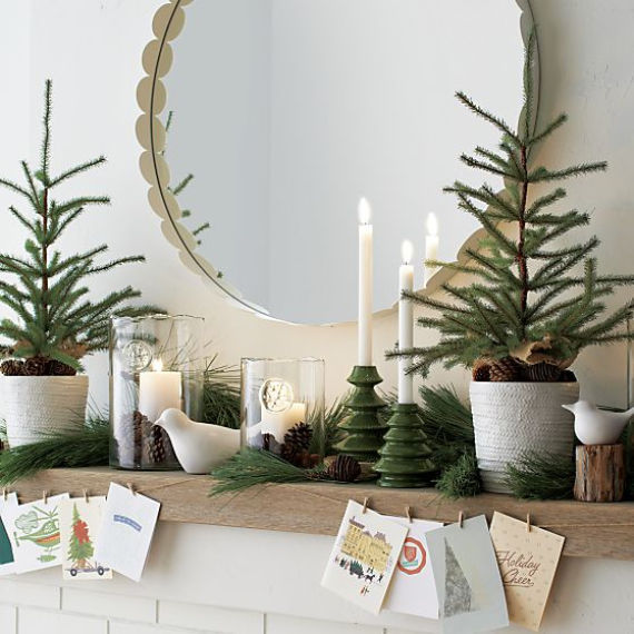 Natural Christmas Decorations For Mantle Pictures Photos