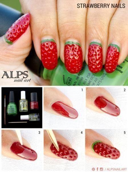 Diy Watermelon Nail Art