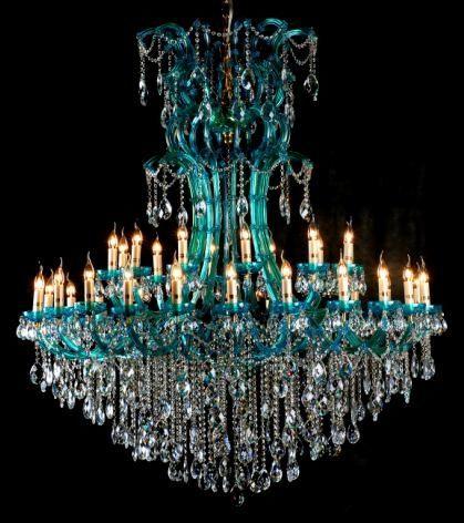 Beautiful Blue Chandelier Tiffany Co