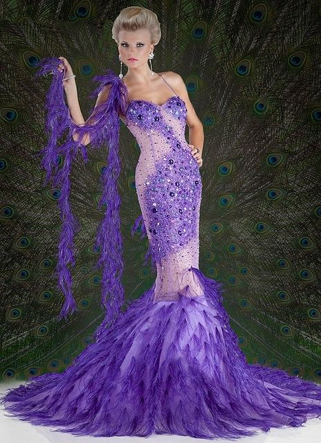 Purple Peacock Gown Pictures Photos And Images For