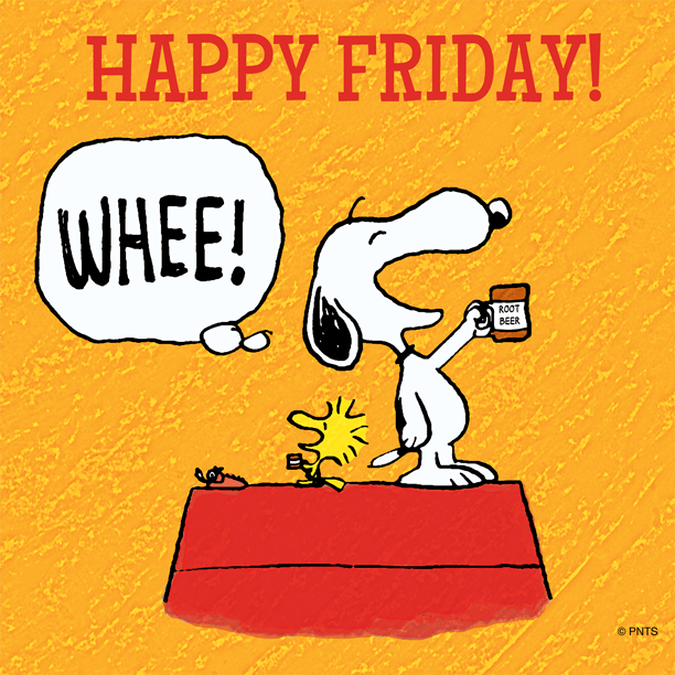 Image result for Snoopy It's Friday