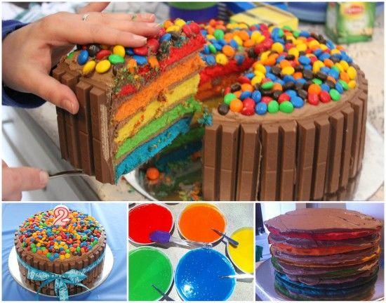 How To Make A Rainbow Velvet Kit Kat Cake Pictures Photos