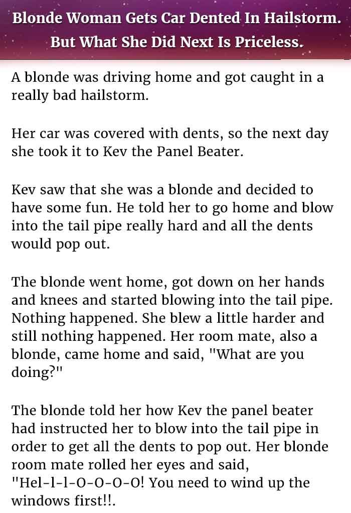 Dumb Blonde Joke Stories