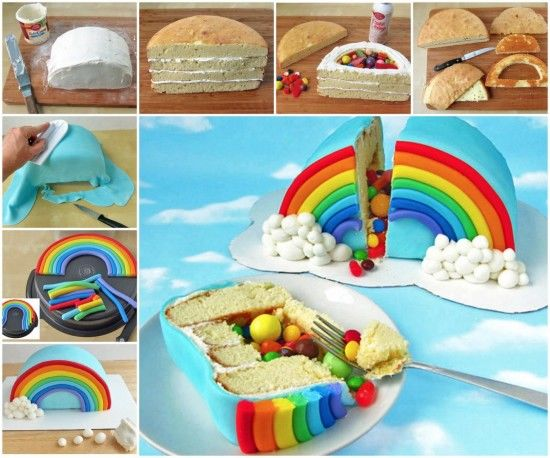 Rainbow Pinata Cake Recipe Pictures Photos And Images