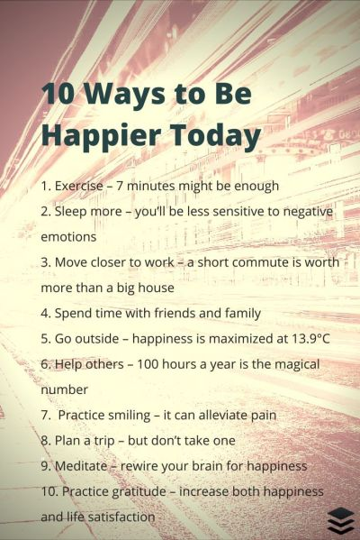 10 Scientifically Proven Ways To Be Happier Today Pictures ...
