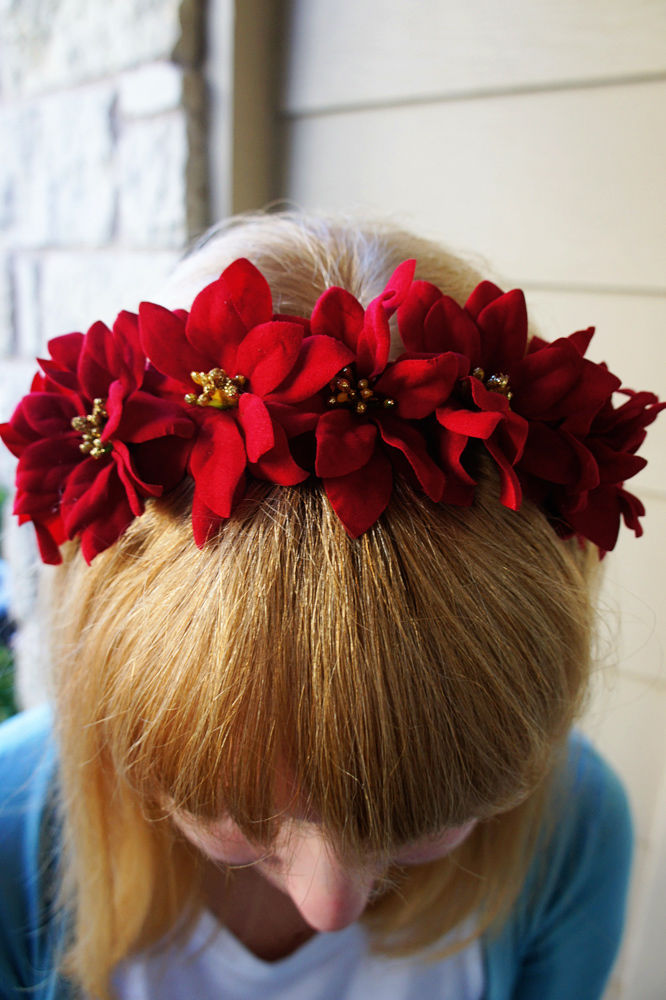 Poinsettia Flower Headband Pictures Photos And Images