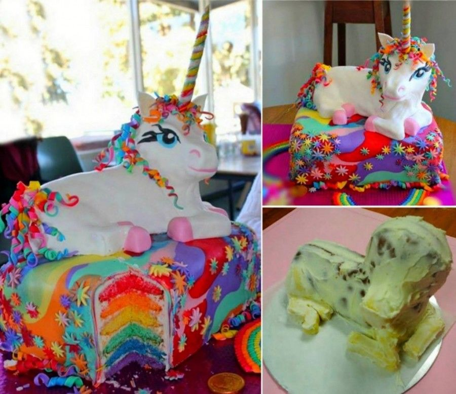 Rainbow Unicorn Cake Pictures Photos And Images For