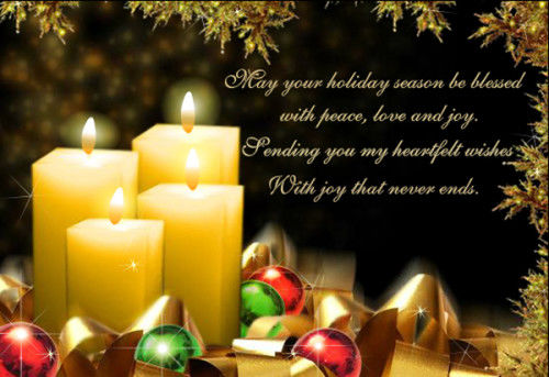 Holiday Greetings Peace Love Joy