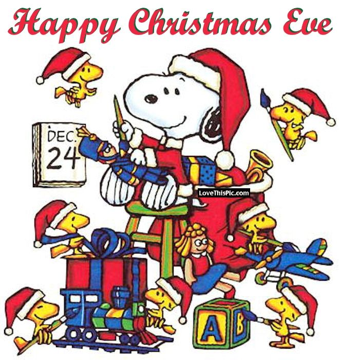 Snoopy Happy Christmas Eve Quote Pictures Photos And