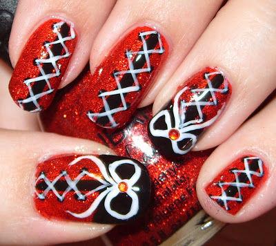 Red Nail Art Designs 12