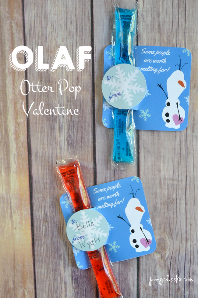 Olaf Otter Pop Valentine Printable Pictures Photos And