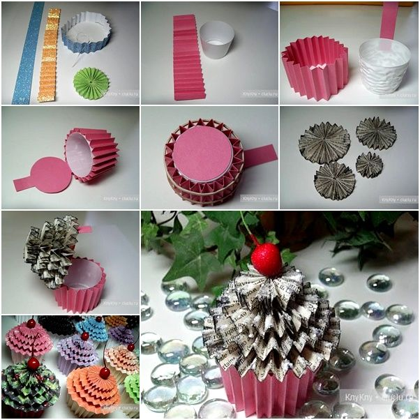 DIY Paper Cupcake Gift Box Pictures Photos And Images
