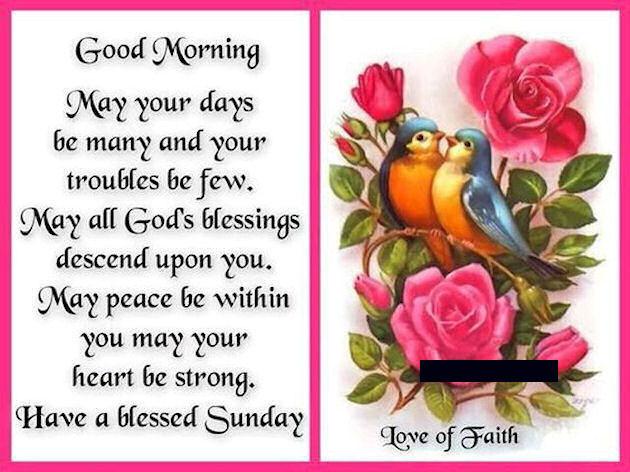 Morning Blessings Love Sunday