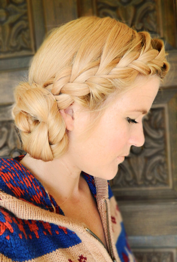 Double Braid Boho Side Bun Pictures Photos And Images