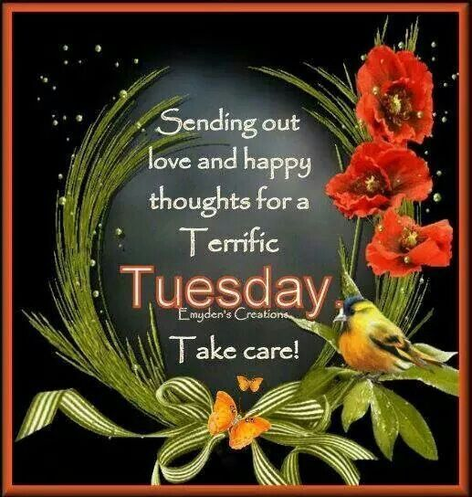Sending Out Love And Happy Thoughts For A Terrific Tuesday