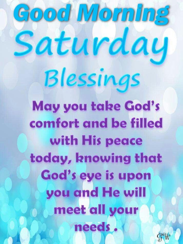 Good Morning Saturday Blessings Religious Quote Pictures