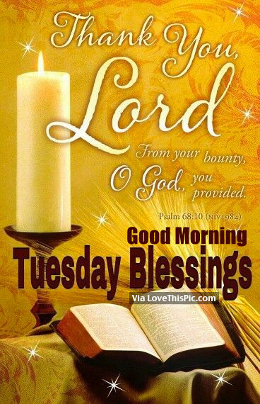 Thank You Lord Good Morning Tuesday Blessings Pictures