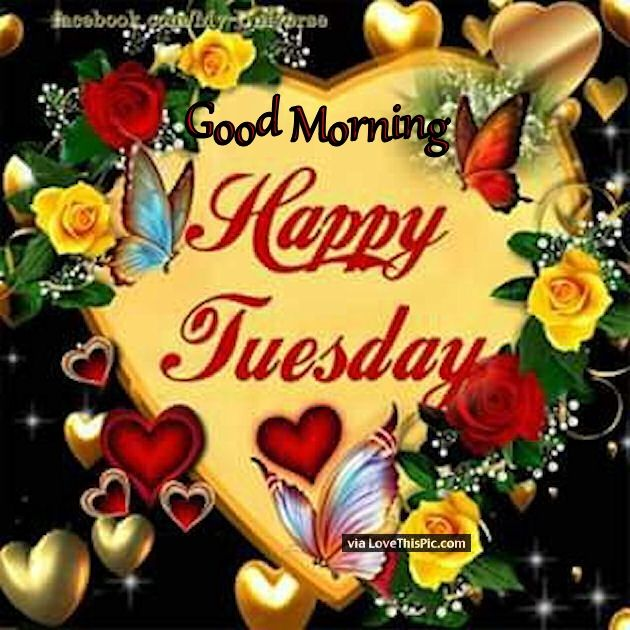 Good Morning Happy Tuesday Hearts And Butterflies Pictures, Photos, and  Images for Facebook, Tumblr, Pinterest, and Twitter