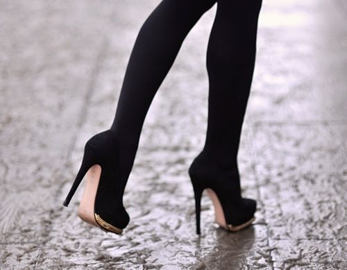 Black Stocking And Black Heels Pictures Photos And