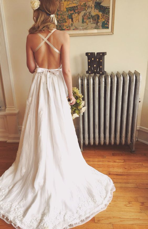 Backless Bohemian Wedding Dress Pictures Photos And Images For Facebook Tumblr Pinterest