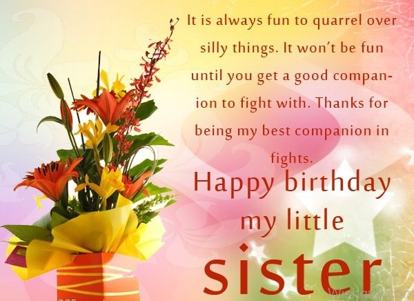 Happy Birthday My Little Sister Pictures Photos And Images For Facebook Tumblr Pinterest