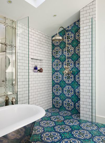 Stunning Victorian Bathroom With White Subway Tile