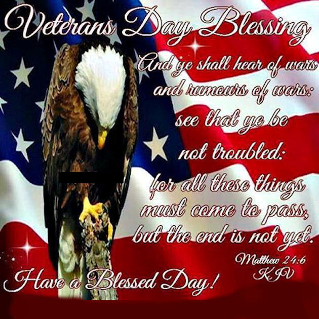 Patriotic Veterans Day Blessings Quote Pictures Photos