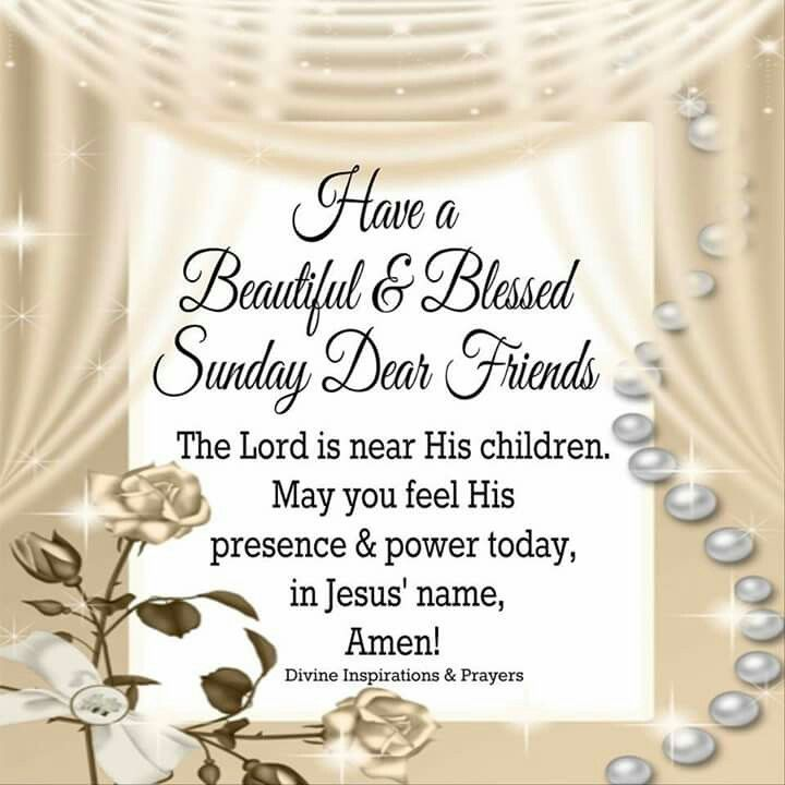Good Morning Sunday Prayers And Blessings