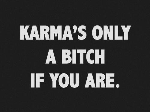 Resultado de imagen para karma's a bitch