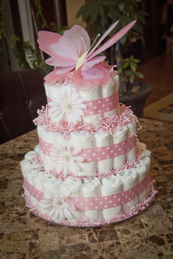 Baby Girl Diaper Tower Pictures Photos And Images For