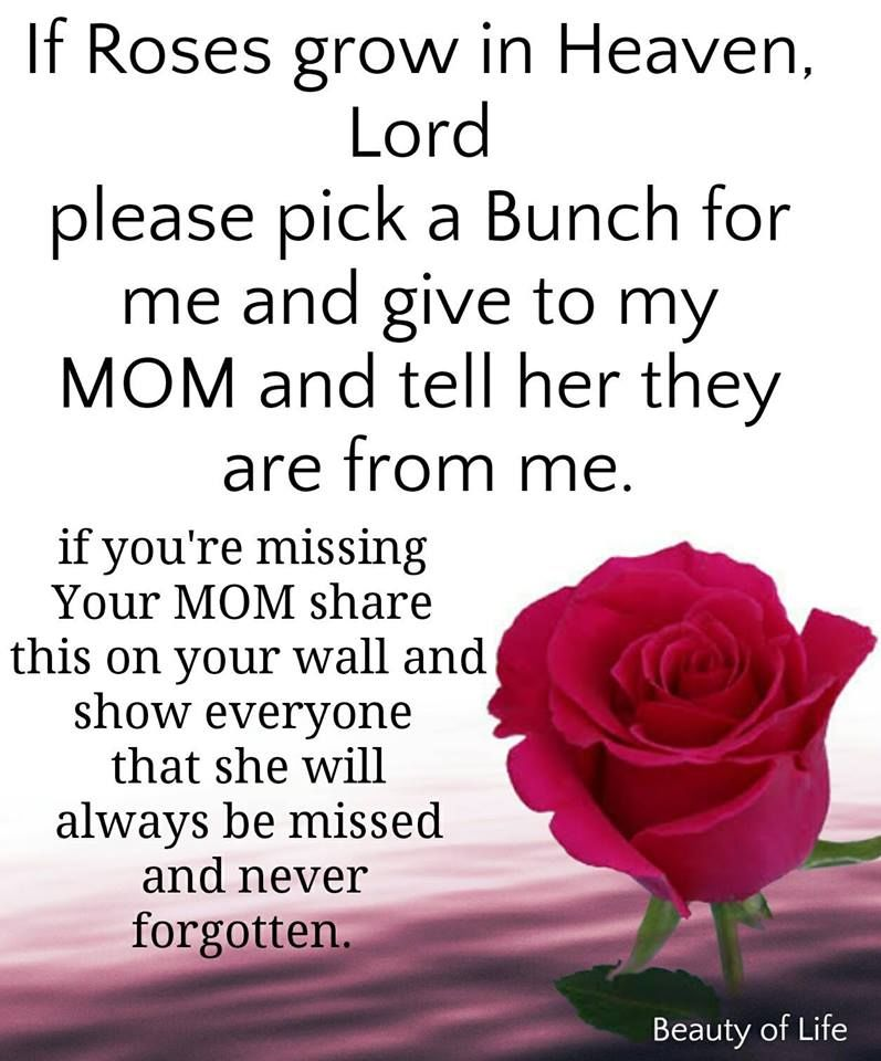 Heaven Birthday Quotes My Mom Happy
