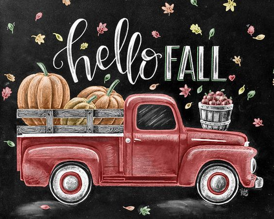 Hello Fall Chalkboard Image Pictures Photos And Images For Facebook Tumblr Pinterest And