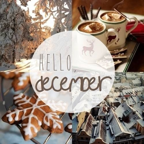 Winter Collage Hello December Quote Pictures Photos And Images For Facebook Tumblr Pinterest