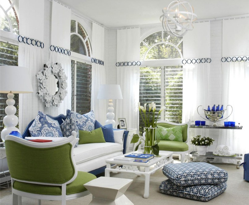 blue and white living room ideas | 1025theparty.com