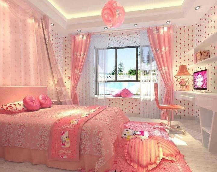 Hello Kitty Pink Bedroom Pictures Photos And Images For