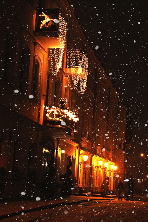 Night Time Snowfall Pictures Photos And Images For