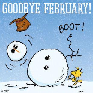 Image result for goodbye february