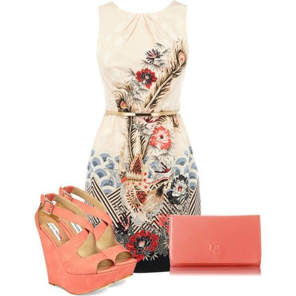 Cute Summer Dress With Wedges Pictures Photos And Images