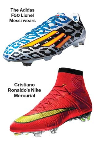 Best Two Players Shoes Soccer Greats Messi And Ronaldo