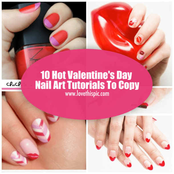 Heart Shape Nails Photo Tutorial Valentine S Day Nail Art