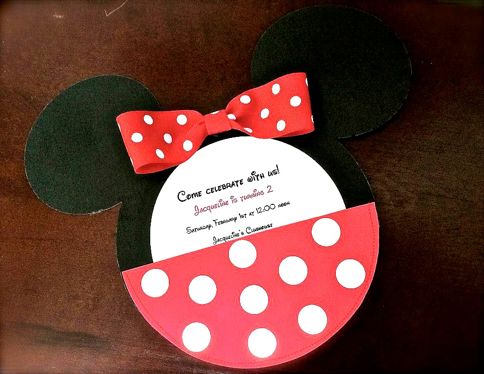 mickey mouse invitations love to be