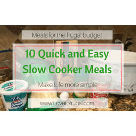 10 Cheap and Easy Slow Cooker Meals