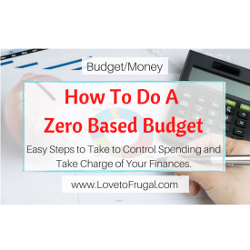 how to do a zero based budget