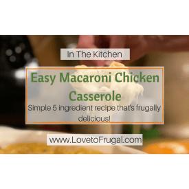 Easy Macaroni Chicken Casserole Recipe