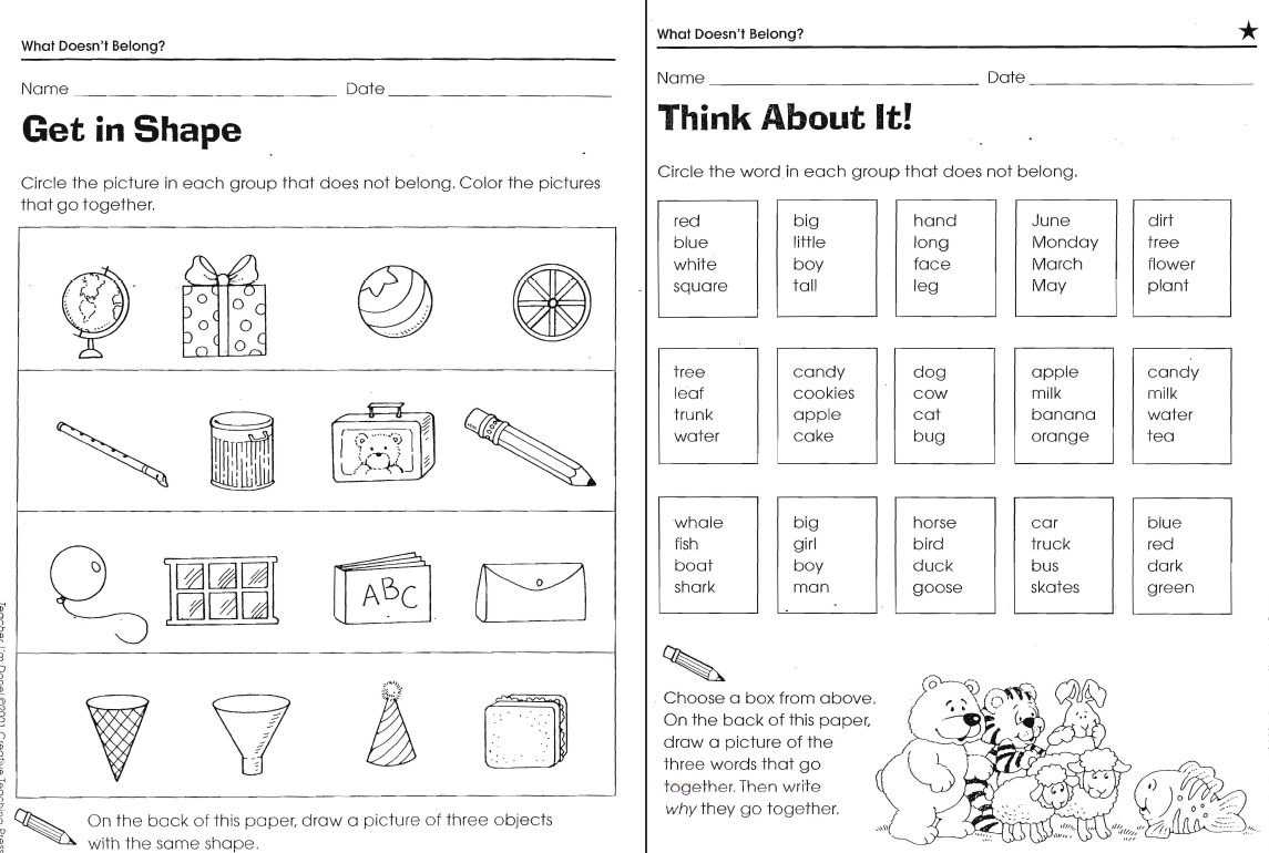 What Doesn T Belong Worksheets
