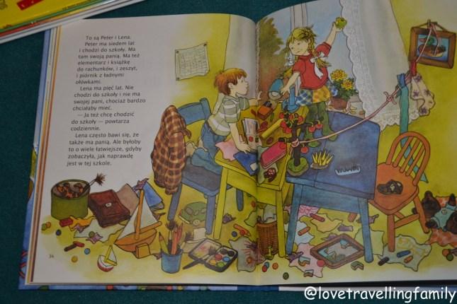 """""""Peter i Lena Ja też chcę chodzić do szkoły"""" Astrid Lindgren"""